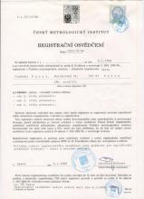 Registrační osvědčení ČMI Vladimír Patyk
