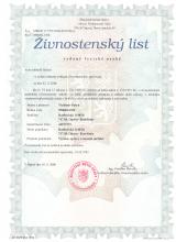 Živnostenský list Vladimír Patyk